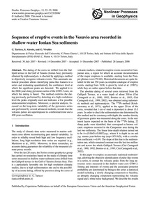 Sequence of Eruptive Events in the Vesuv... by Taricco, C.