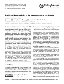 Tsallis and Levy Statistics in the Prepa... by Contoyiannis, Y. F.