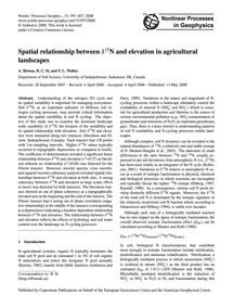 Spatial Relationship Between Δ15N and El... by Biswas, A.