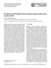 Breeding and Predictability in the Baroc... by Young, R. M. B.