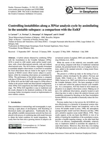 Controlling Instabilities Along a 3Dvar ... by Carrassi, A.