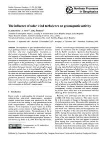 The Influence of Solar Wind Turbulence o... by Jankovičovà, D.
