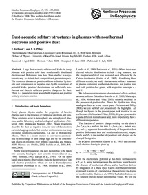 Dust-acoustic Solitary Structures in Pla... by Verheest, F.