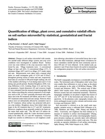 Quantification of Tillage, Plant Cover, ... by Paz-ferreiro, J.
