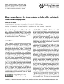 Time Averaged Properties Along Unstable ... by Saiki, Y.