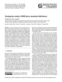 Turning the Resistive Mhd Into a Stochas... by Materassi, M.