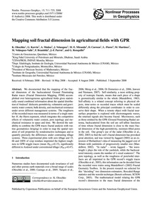 Mapping Soil Fractal Dimension in Agricu... by Oleschko, K.
