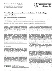 Conditional Nonlinear Optimal Perturbati... by Terwisscha Van Scheltinga, A. D.
