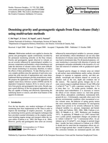 Denoising Gravity and Geomagnetic Signal... by Del Negro, C.