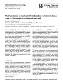 Multivariate Non-normally Distributed Ra... by Schölzel, C.