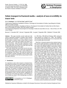 Solute Transport in Fractured Media – An... by Rodrigues, N. E. V.