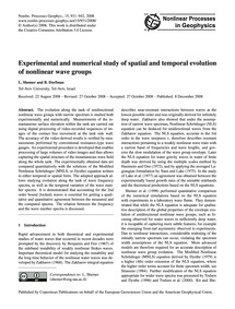 Experimental and Numerical Study of Spat... by Shemer, L.