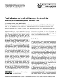 Patch Behaviour and Predictability Prope... by Vis-star, N. C.
