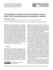 Scale-dependency of Surface Fluxes in an... by Hong, Jinkyu