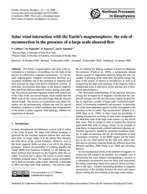 Solar Wind Interaction with the Earth's ... by Califano, F.