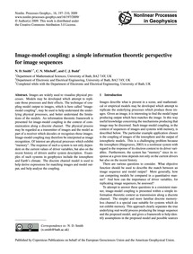Image-model Coupling: a Simple Informati... by Smith, N. D.