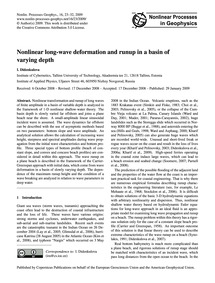 Nonlinear Long-wave Deformation and Runu... by Didenkulova, I.
