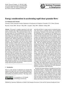 Energy Considerations in Accelerating Ra... by Pudasaini, S. P.