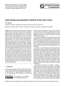 Joule Heating and Anomalous Resistivity ... by Spangler, S. R.