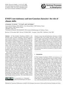 Enso's Non-stationary and Non-gaussian C... by Boucharel, J.