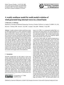 A Weakly Nonlinear Model for Multi-modal... by Sakai, T.
