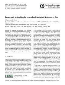 Large-scale Instability of a Generalized... by Legras, B.