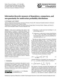 Information Theoretic Measures of Depend... by Monahan, A. H.