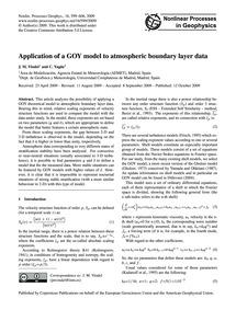 Application of a Goy Model to Atmospheri... by Vindel, J. M.