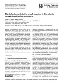 The Stochastic Multiplicative Cascade St... by Stolle, J.