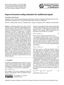 Improved Moment Scaling Estimation for M... by Veneziano, D.