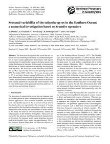 Seasonal Variability of the Subpolar Gyr... by Dellnitz, M.