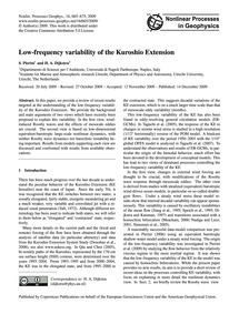 Low-frequency Variability of the Kuroshi... by Pierini, S.