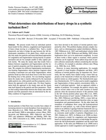 What Determines Size Distributions of He... by Zahnow, J. C.