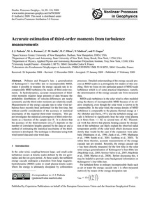 Accurate Estimation of Third-order Momen... by Podesta, J. J.