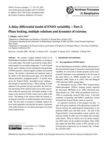 A Delay Differential Model of Enso Varia... by Zaliapin, I.