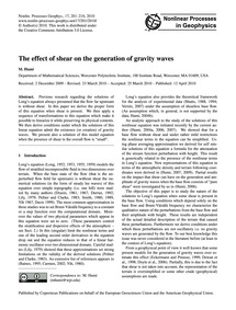 The Effect of Shear on the Generation of... by Humi, M.