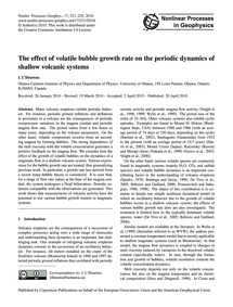 The Effect of Volatile Bubble Growth Rat... by L'Heureux, I.