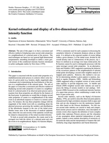 Kernel Estimation and Display of a Five-... by Adelfio, G.