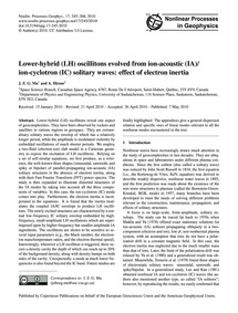Lower-hybrid (Lh) Oscillitons Evolved fr... by Ma, J. Z. G.