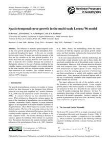 Spatio-temporal Error Growth in the Mult... by Herrera, S.