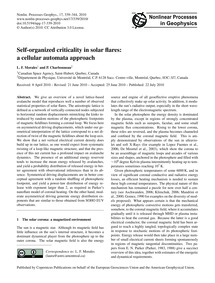Self-organized Criticality in Solar Flar... by Morales, L. F.