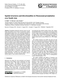 Spatial Structures and Directionalities ... by Malik, N.