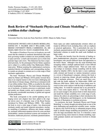 Book Review of Stochastic Physics and Cl... by Schertzer, D.