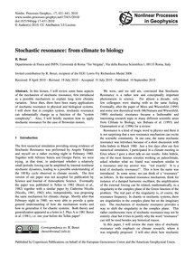 Stochastic Resonance: from Climate to Bi... by Benzi, R.