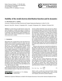 Stability of the Strahl Electron Distrib... by Shevchenko, V. I.