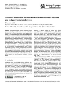 Nonlinear Interactions Between Relativis... by Tao, X.