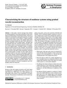 Characterizing the Structure of Nonlinea... by Keylock, C. J.