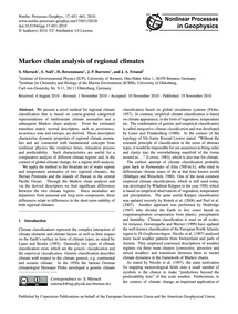 Markov Chain Analysis of Regional Climat... by Mieruch, S.
