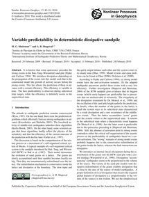 Variable Predictability in Deterministic... by Shnirman, M. G.
