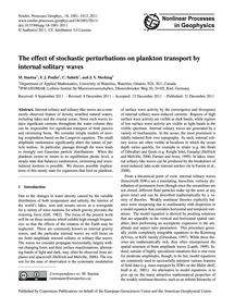 The Effect of Stochastic Perturbations o... by Stastna, M.